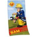 Herding Feuerwehrmann Sam Velourstuch, 75x150 cm bunt