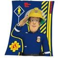 Herding Kuschelige Microfaserflausch- Decke Feuerwehrmann Sam, 130x160 cm blau