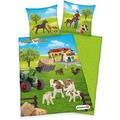 Herding Schleich Farm World Renforcé Bettwäsche 135x200 cm grün