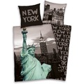 "Herding Young Collection ""New York"" Bettwäsche 135x200cm + 80x80cm grau"
