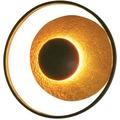 Holländer Wandleuchte 4-flg. SATELLITE braun-schwarz-gold