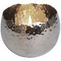 Holländer Windlicht 1-flg. PROFILIO RUND GROSS Metall silber gehämmert