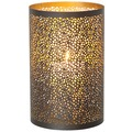 Holländer Windlicht 1-flg. PUNTI GROSS Metall außen kupfer-braun innen gold