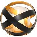 Holländer Windlicht LA RETE KLEIN Metall schwarz - innen gold - Glas