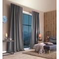 Home Wohnideen Kombibandschal, Dekoschal Thermostoff Geärbt Grau 245 x 135 cm