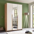 IMV Kleiderschrank Skye I, weißbraun mit Spiegel