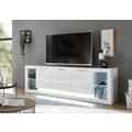IMV Lowboard Meran weiß / weiß hochglanz 198 x 49 x 43
