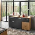 IMV Sideboard Locarno grau / Hirnholz Dekor 138 x 74 x 39