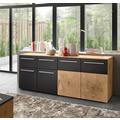 IMV Sideboard Locarno grau / Hirnholz Dekor 183 x 74 x 39