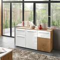 IMV Sideboard Locarno weiß / Hirnholz Dekor 138 x 74 x 39