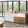 IMV Sideboard Locarno weiß / Hirnholz Dekor 183 x 74 x 39