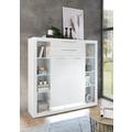 IMV Sideboard Meran weiß / weiß hochglanz 141 x 139 x 37