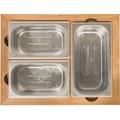 Indu+ Container Set teak inox
