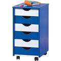 Inter Link Rollcontainer 'Beppo' blau/weiss lackiert 6 SL
