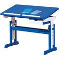 Inter Link Schreibtisch 'Paco' 109x55cm mit SL blau/weiss