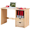 Inter Link Schreibtisch 'Sinus neu' farblos 2 Schubladen