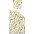 irisette biber lilo 8987 gelb Bettwäsche 135x200 cm, 1 x Kissenbezug 80x80 cm