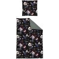 irisette Mako-Satin opal 8817 black Bettwäsche 135x200 cm, 1 x Kissenbezug 80x80 cm