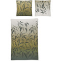 irisette Mako-Satin palma 8239 natur Bettwäsche 135x200 cm, 1 x Kissenbezug 80x80 cm