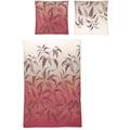 irisette Mako-Satin palma 8239 rot Bettwäsche 135x200 cm, 1 x Kissenbezug 80x80 cm