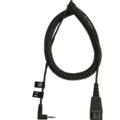 Jabra Anschlusskabel QD auf 2,5mm Klinke, gewinkelt, spiral