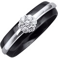 Jacques Lemans Ring 925/- Sterling Silber rhodiniert schwarz 10493 54 (17,2)