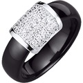 Jacques Lemans Ring 925/- Sterling Silber schwarz 5529 54 (17,2)