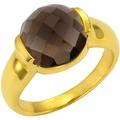 Jamelli Ring 925/- Sterling Silber vergoldet Rauchquarz gelb 10177 52 (16,6)
