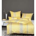 Janine Bettwäsche-Garnitur Carmen Interlock-Jersey gelb 135x200, 80x80
