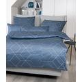 Janine Bettwäsche-Garnitur Interlock-Jersey mondlichtblau 135x200, 80x80