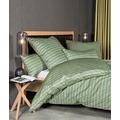 Janine Bettwäsche-Garnitur Interlock-Jersey oliv silbergrün 135x200, 80x80
