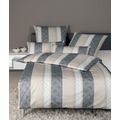 Janine Bettwäsche-Garnitur Interlock-Jersey taupe graphit 135x200, 80x80