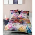 Janine Bettwäsche-Garnitur Mako-Satin multicolor 42045-09 Bettbezug 135x200, Kissenbezug 80x80cm