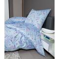 Janine Bettwäsche-Garnitur Mako-Satin puderblau 135x200, 80x80