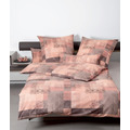 Janine Bettwäsche Chinchilla S Edelflanell puderrouge taupe 78040-01 135x200, 80x80