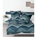 Janine Bettwäsche Interlock-Jersey balsamgrün silberblau Bettwäsche 135X200,Kissenbezug 80x80