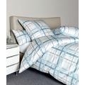 Janine Bettwäsche Interlock-Jersey Carmen aquarellblau grau Bettwäsche 135X200, Kissenbezug 80x80
