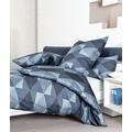 Janine Bettwäsche Mako-Satin blau Bettwäsche 135X200,Kissenbezug 80x80