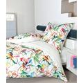 Janine Bettwäsche Mako-Satin modernart multicolor Bettwäsche 135X200, Kissenbezug 80x80