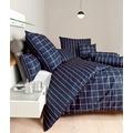 Janine Bettwäsche Mako-Satin modernclassic nachtschattenblau Bettwäsche 135X200, Kissenbezug 80x80