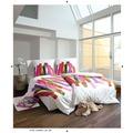 Janine Bettwäsche Mako-Satin multicolor 135X200 Kissenbezug 80x80