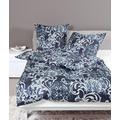 Janine Bettwäsche Mako-Satin nachtschattenblau Bettwäsche 135X200,Kissenbezug 80x80