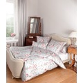 Janine Bettwäsche Mako-Satin rosa silber Bettwäsche 135X200,Kissenbezug 80x80