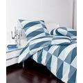 Janine Bettwäsche Mako-Soft-Seersucker TANGO blau Bettwäsche 155X220,Kissenbezug 80x80