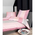 Janine Bettwäsche Mako-Soft-Seersucker rosa Bettwäsche 155X220,Kissenbezug 80x80