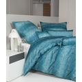 Janine Bettwäsche Messina Mako-Satin ägäischblau 43124 135x200, 80x80