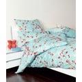 Janine Interlock-Jersey Carmen wolkenblau fuchsia Bettbezug 135x200, 80x80