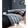 Janine Mako-Satin J. D. silber-schwarz Bettbezug 135x200, 80x80