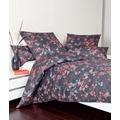 Janine Mako-Satin Messina nachtschattenblau orange Bettbezug 135x200, 80x80