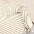 Janine Mako-Satin modernclassic beige 40x40 Kissenbezug mit Stehsaum